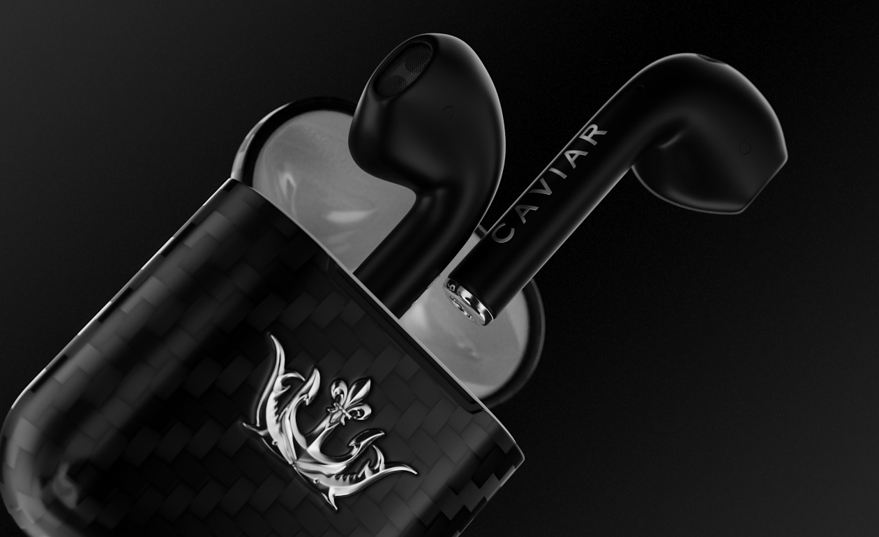 AirPods Real Carbon Fiber version by Caviar