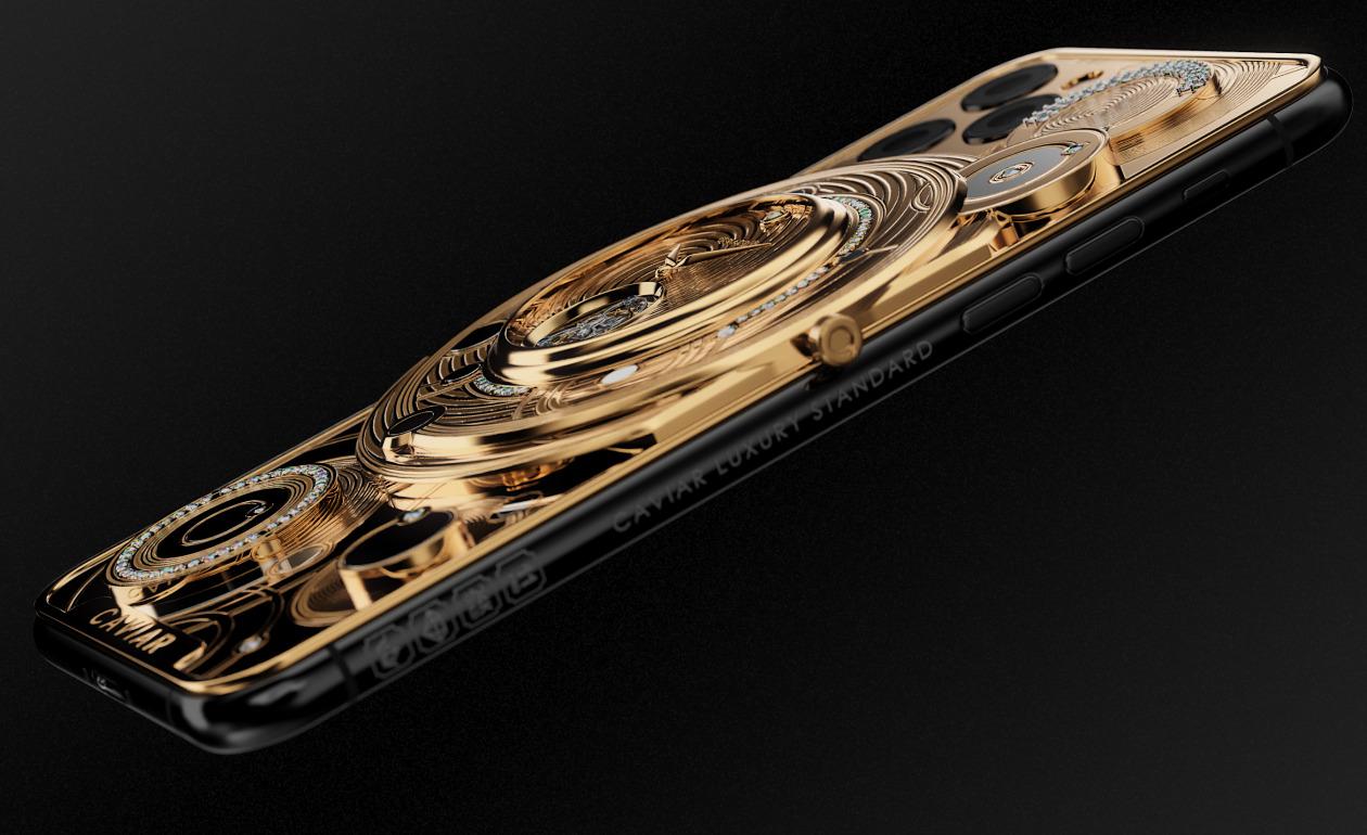 золотой iPhone 11 Pro от Caviar