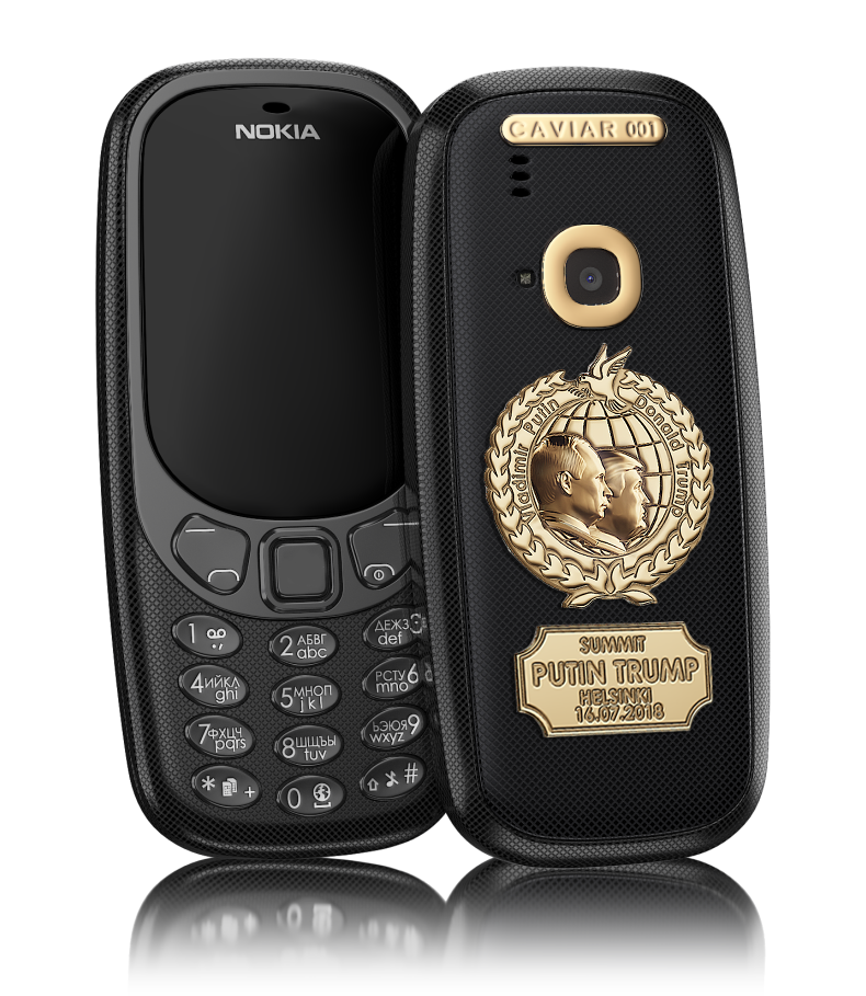 free shipping 60e69 c40c7 Buy Nokia 3310 Putin Trump Summit black version - Caviar