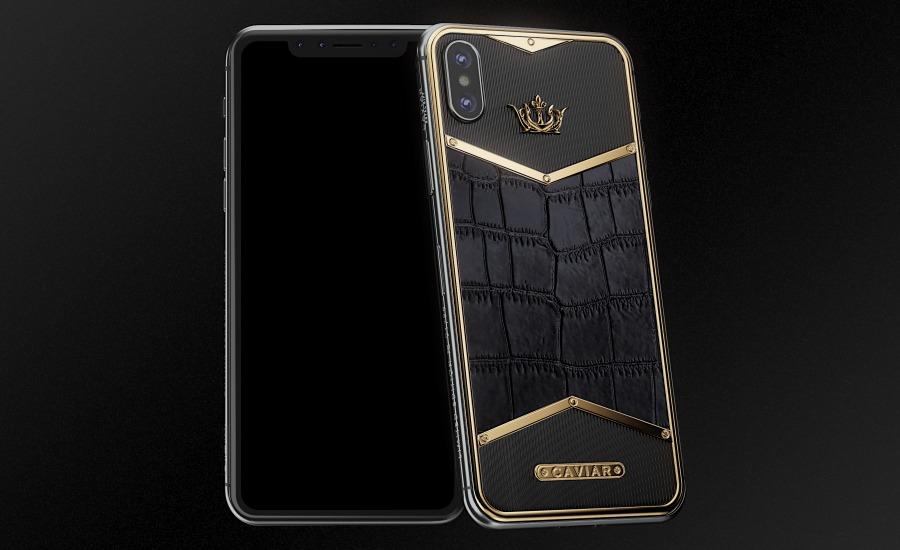 the best attitude 94440 8e5de Buy Apple iPhone X Alligatore Black Gold X-Edition