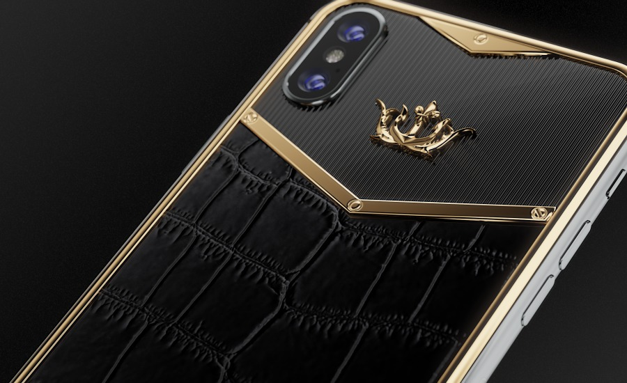 buy apple iphone x alligatore black gold x edition