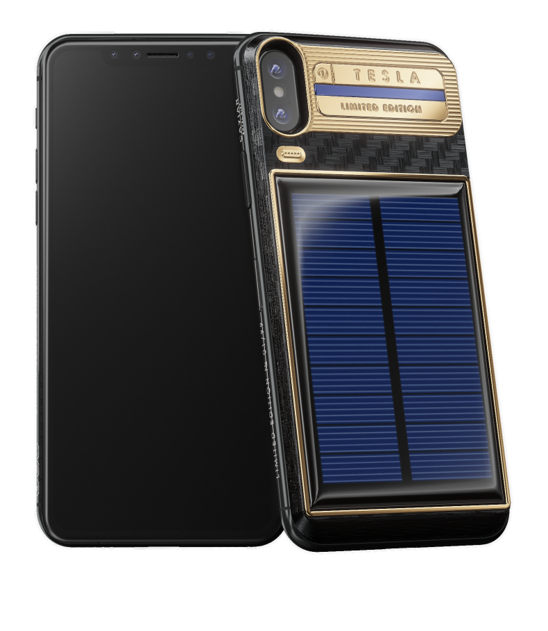 Buy Iphone: Buy IPhone Xs TESLA With A Solar Panel By Caviar