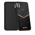 Caviar iPhone X case Classic Carbon Alligatore