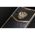 iPhone X Russia Alligatore Gold by Caviar