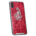 iPhone X with a picture of a firebird on designer case