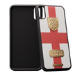 iPhone X case with England flag