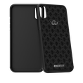 Caviar iPhone X case Classic Leather White Gold