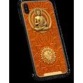 iPhone X with image of Gautama Buddha on the case