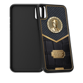 Caviar iPhone X case Putin Leather Alligatore Gold