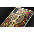 Golden iPhone X with Thomas Muller portrait