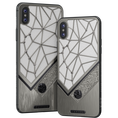 diamond iPhone X with Leo Aquarius Sign