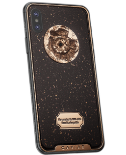 custom iPhone X encrusted with real particles of Mars surface