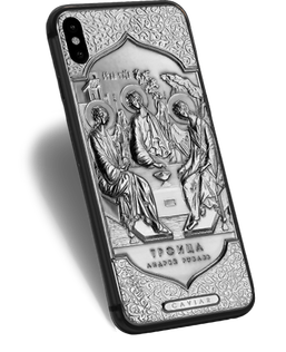 Christian iPhone X with Andrei Rublev's Icon of the Trinity