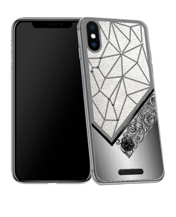 iPhone X with Aquarius Horoscope Symbol