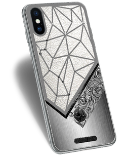 diamond iPhone X with Leo Aquarius Sign