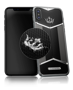 Caviar iPhone X Titano White Diamonds