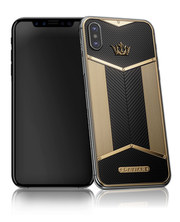 Caviar iPhone X Black Gold Sides X-Edition