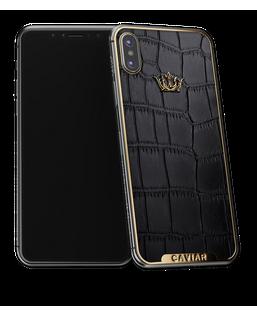 Caviar iPhone X Classico Corona Alligatore