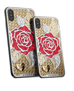 Caviar iPhone Xs Love Rose