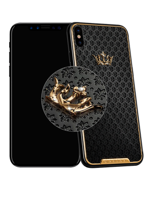Caviar iPhone X Classic Corona Onyx Diamonds