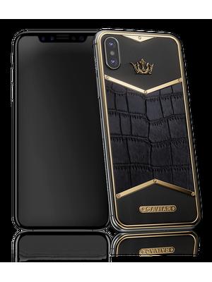 Caviar iPhone X X-Edition Alligatore Black Gold