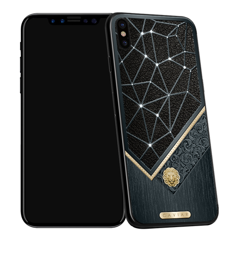 Caviar iPhone X Classic Leone Diamond Onyx