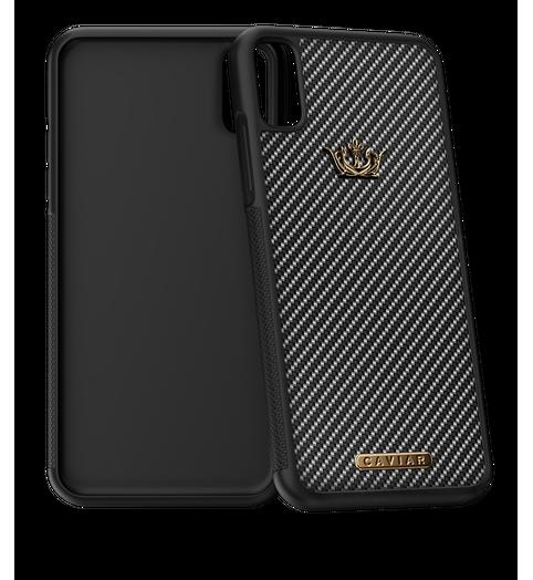 Caviar iPhone X case Classic Carbon