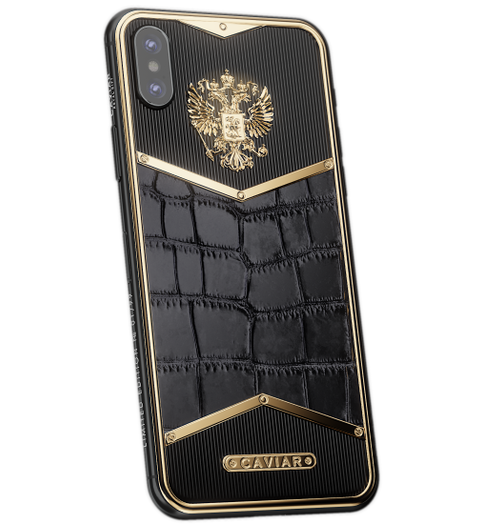iPhone X Russia Alligatore Gold image