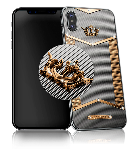 Caviar iPhone X Titano Gold Diamonds