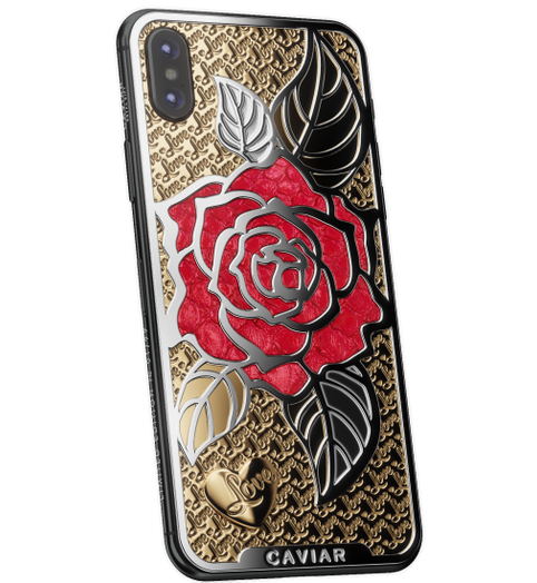 stylish smartphone iPhone X Love Rose