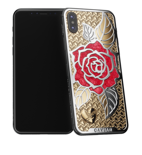 Caviar iPhone X Love Rose