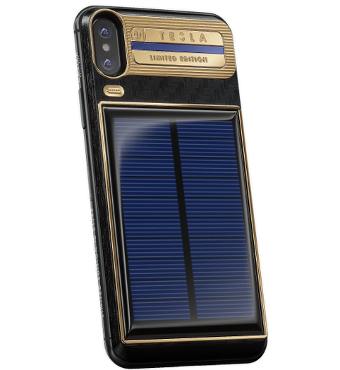 iPhone X with solar charging