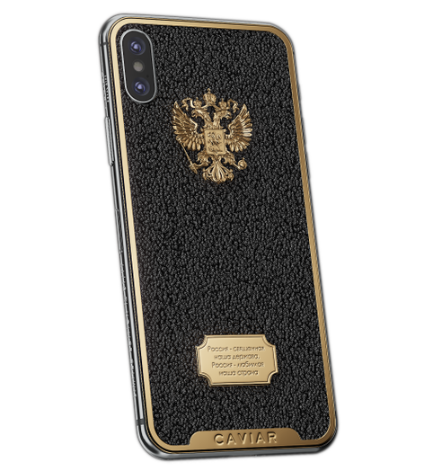 iPhone X Russia Caviar Black image