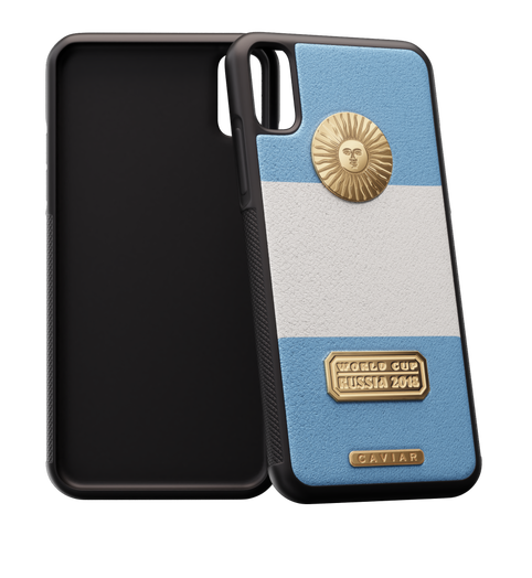 Football case for iPhone X Argentina