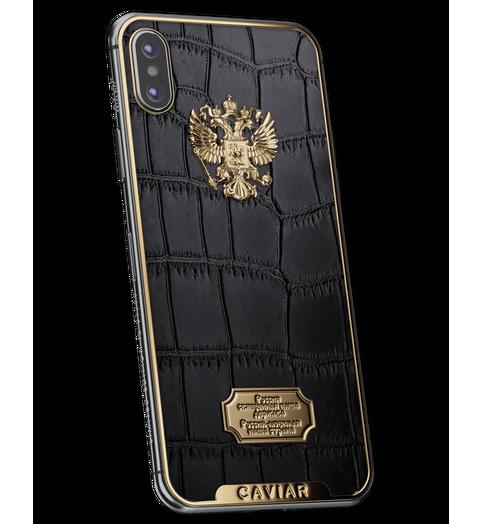 elite smartphone in luxury leather case
