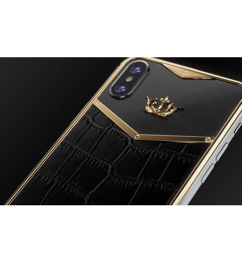 iPhone X Alligatore Black Gold X-Edition photo