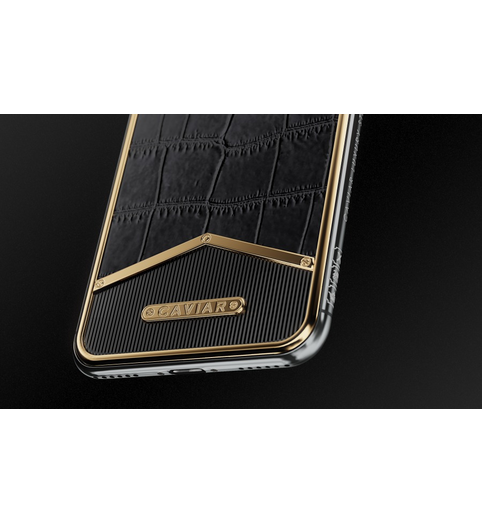 buy iPhone X Alligatore Black Gold X-Edition