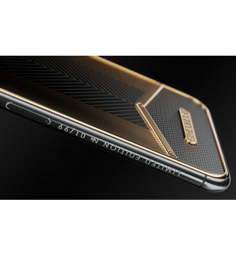 iPhone X Black Gold Sides X-Edition case
