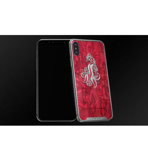 designer iPhone X Firebird Red