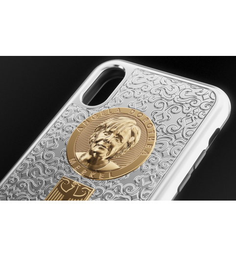 iPhone X Angela Merkel case photo