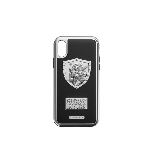 "iPhone X Case ""Heavy Metal Leather"" by Caviar"