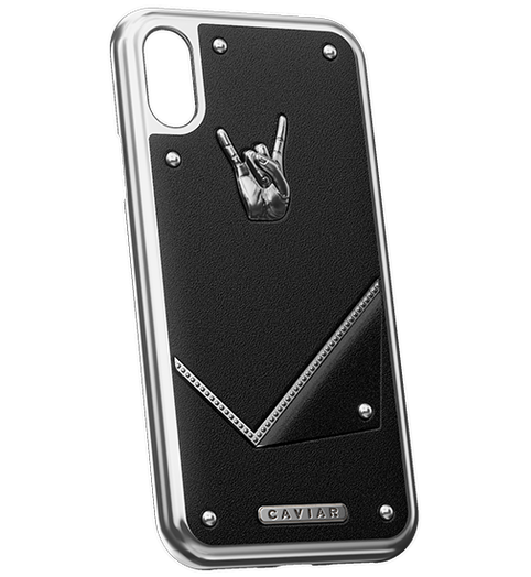 "iPhone X Case Titans of rock ""Rock Star"" by Caviar"