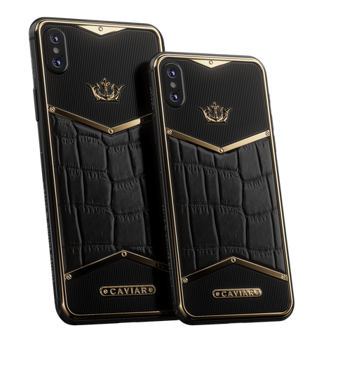Caviar iPhone Xs X-Edition Alligatore Black Gold