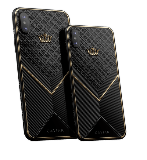 Caviar iPhone Xs Gold Black Onyx X-Edition
